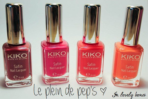 Kiko vernis Rouges