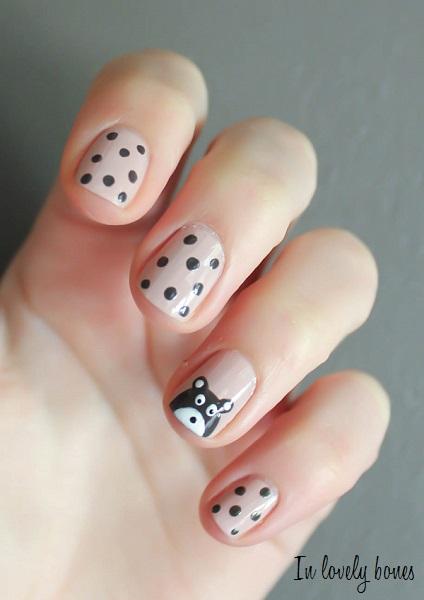 Nounours nail art