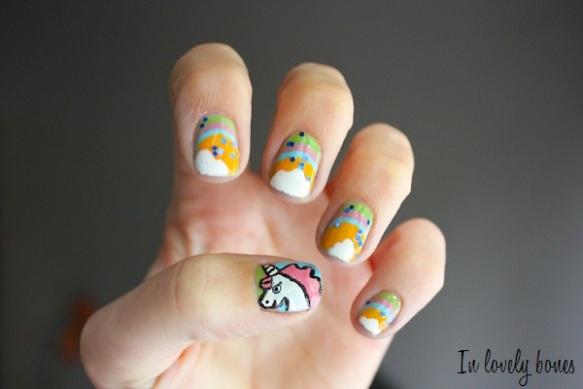 Unicorn Nail art 1