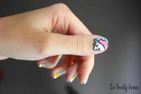 Unicorn Nail art 4