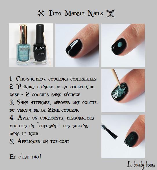 Tuto Marble Nails