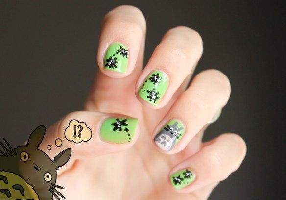 Totoro Nail Art 2